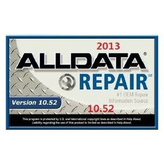 Repair data ALLDATA 2013.10.53 Automotive Diagnostic Software