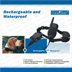 300 Meters Remote Pet Training Collar With LCD Display For Stubborn Dogs