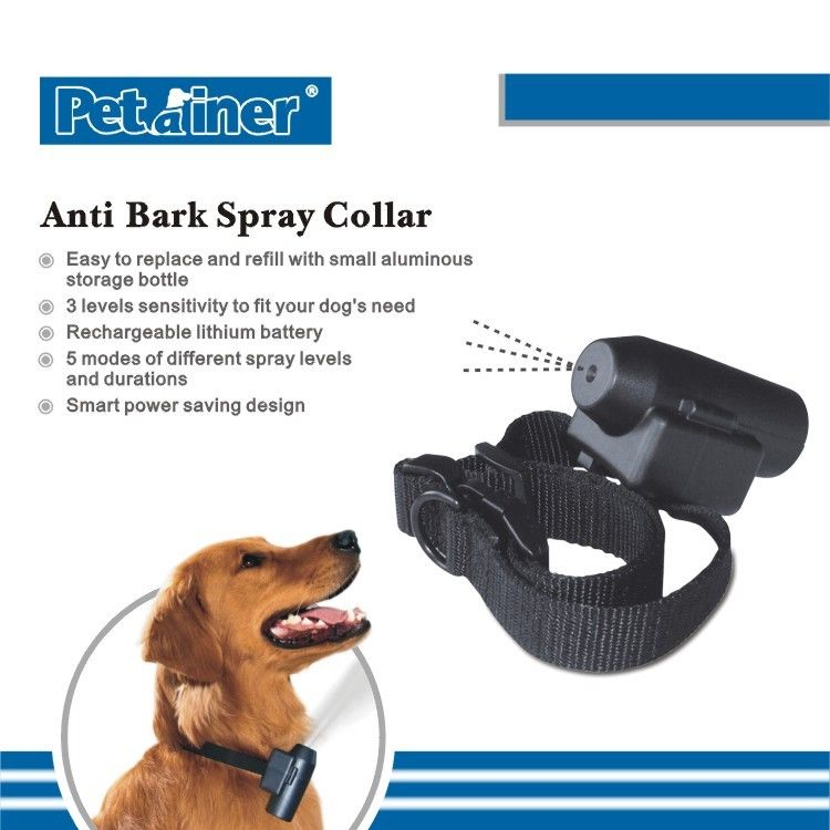 Rechargeable Remote Pet Training Collar , Automatic Spray Training Collar