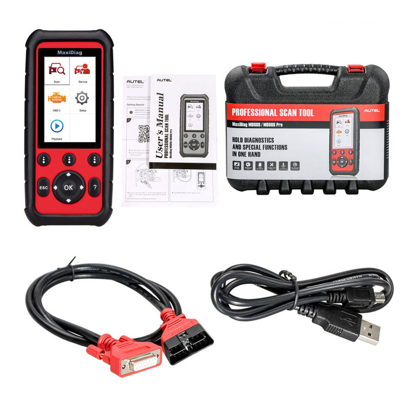 English Language Car Engine Diagnostic Tool Autel MaxiDiag MD808 For Transmission / SRS